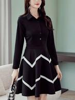 【dress】Fashion large size sleeve dress