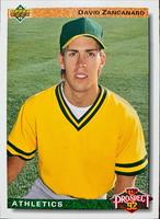 MLBカード 92UPPERDECK David Zancanaro #054 ATHLETICS