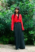 Red × black jump suit 【Joan Walters】