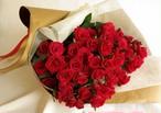 還暦お祝いの60本の赤いバラの花束