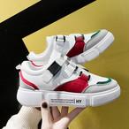 【shoes】カジュアルプリント切り替えしスニーカー17833849