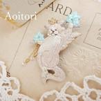 『 木花咲耶姫 』 刺繍ブローチ