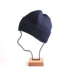 mature ha./long rib knit cap navy