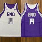【デザインサンプル】可愛ミニバスケットボールクラブ(U12・男子)リバーシブルシャツ