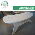 CAMPOOPARTS キャンプオーパーツ BoomerangTABLE (WOOD未処理天板仕様) C型テーブル ブーメラン アウトドア キャンプ