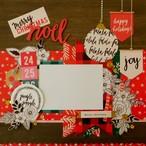 <写真を貼るだけ>12インチスクラップブッキング作品「Noel」