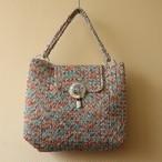 昭和レトロ vintage メッシュ 編み柄 カラフル バッグ