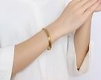 バングル ブレスレット レディース メンズ ユニセックス デザインバングル ゴールド チタン