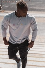 XENO EMBROIDERY LS T-shirt SandBeige