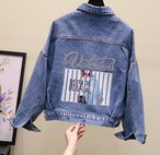 【outer】 プリントシングルブレストファッションジャケット27088752