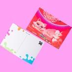 ホログラムポストカード ピンクキャットルーム