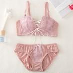 【underwear】美谷間レースブラッジャーショーツセット