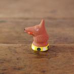【にしおゆき】陶人形「赤ずきんのおおかみ」