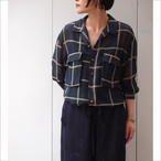 【hippiness】chiffon loose shirt/【ヒッピネス】シフォン ルーズ シャツ