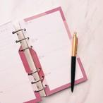 ウィークリー計画 / バイブル / ルージュレッド(システム手帳リフィル)