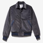Corduroy Varsity Jacket(Grey)