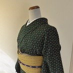 正絹お召 百入茶色の絣 袷の着物