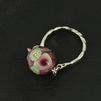 レトロなトンボ玉の指輪no.67