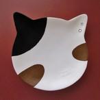 (154) 【日本製】T'S COLLECTION 三毛猫 フェイストレイ 小物入れ 猫 ネコ トレー