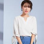【tops】七分袖ファッション合わせやすいvネックトップス 22448162