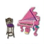 ピアノ刺繍ワッペン アイロン接着タイプ  カヨ・ホラグチ