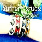 レザーブレス スタッズ bracelet studs  本革 牛革 メンズアクセサリー レディース ペア ブレスレット