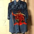 SAMURAI blue polyetser shirt