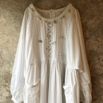 flower × lace vintage white dress
