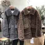 羊毛もこもこCTジャケット アウター ジャケット ファージャケット 韓国ファッション