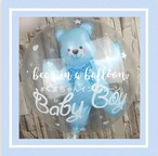 くまちゃんインバルーン ブルー 誕生日  1歳 赤ちゃん ベビー 飾り 装飾 飾り付け プレゼント バースデー