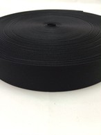 ナイロンベルト 高密度織 38mm幅 1mm厚 黒 5m