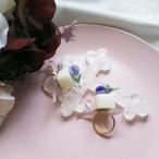 すみれの花の砂糖漬けシュガー リング
