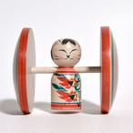ネコこけし(福車) 約2寸 約6cm 梅木直美 工人(蔵王高湯系)#0017