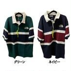 [THE PORK FACE] カノコ切替えラガーシャツ ポロシャツ M〜5L