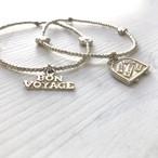 BON VOYAGE 2set bracelet  / trunk / silver