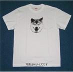 柴犬まる ニッコリまるTシャツ ホワイト