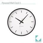 KATOMOKU plywood wall clock 5 km-49BRCS SKP電波時計