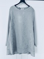 【WHY CI MILANO】七分袖AラインTシャツ (321-011)