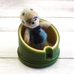 【Yuんぴー】竹の中の豆太郎/羊毛フェルト