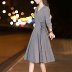 【dress】フォーマルワンピースチェック柄Aラインデートワンピース