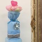 オーガニックおむつケーキブルーSサイズ、SSサイズ*Kfj's dress wrapping gift B&3M