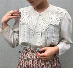 (PAL) lace collar l/s blouse