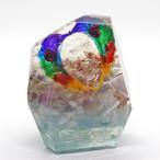 鉱石型 虹色天使のオルゴナイト フローライト&アクアマリン&アパタイト