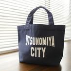 キャンバスミニトートバッグ UTSUNOMIYA CITY ネイビー