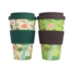 Borneo Orangutan Ecoffee Cup - Green & White