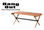 HangOut(ハングアウト) ポール ローテーブル POL-T90 折り畳み 木製 ウッド テーブル コンパクト 持ち運び 収納 アウトドア キャンプ グッズ