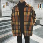 チェック柄 ジャケット アウター シャツ 長袖 ストリート系 メンズ オーバーサイズ オルチャン 韓国 原宿