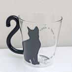 【HS】黒猫ガラスマグ【猫 猫柄 マグカップ ar06041】