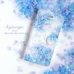 iPhone 手帳型スマホケース 【hydrangea】 iPhone8plus/7plus/6plus/6splus