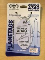 PLANE TAGS/AIRBUS A340-300 中華航空(薄紫)